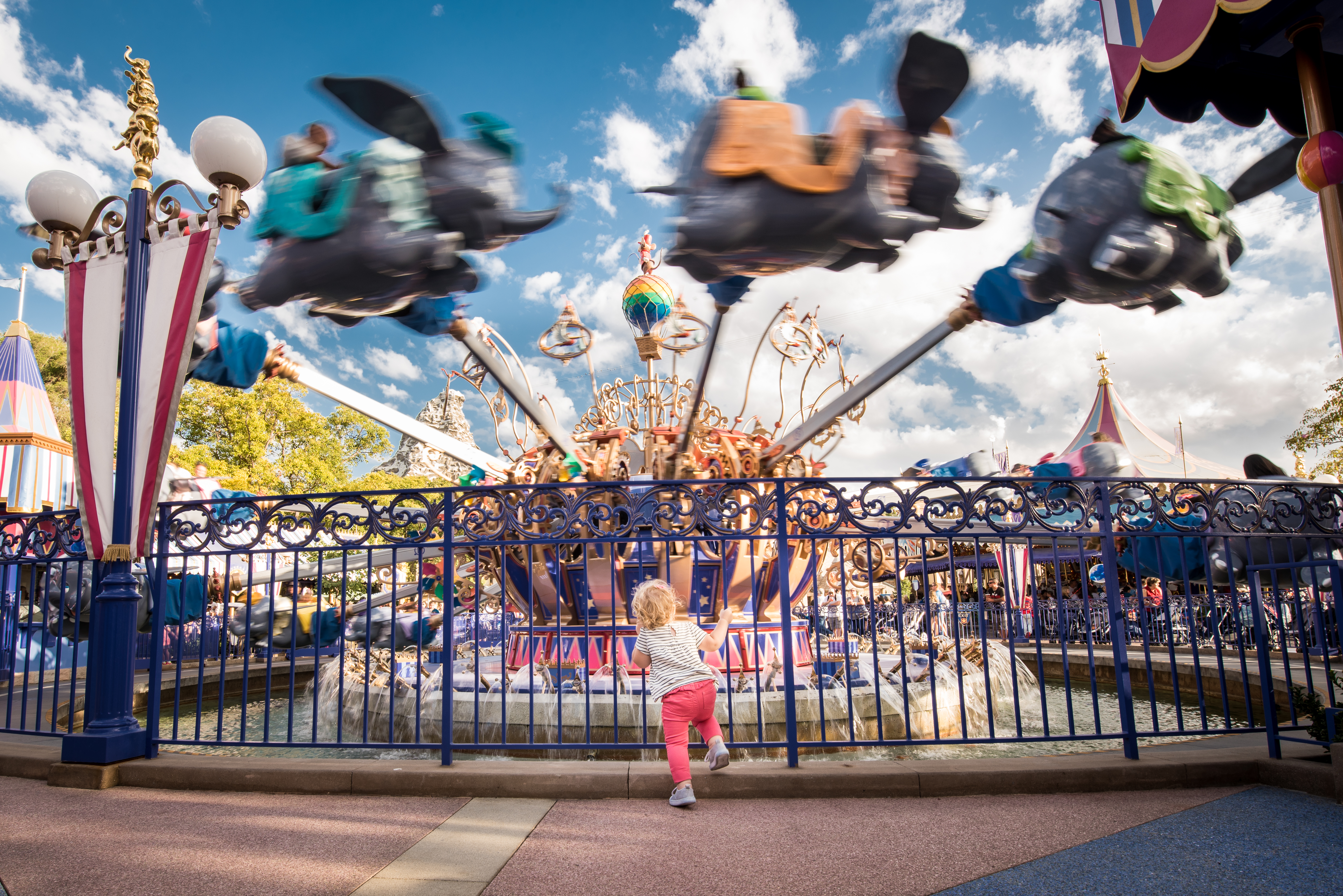 Girl in front of Dumbo