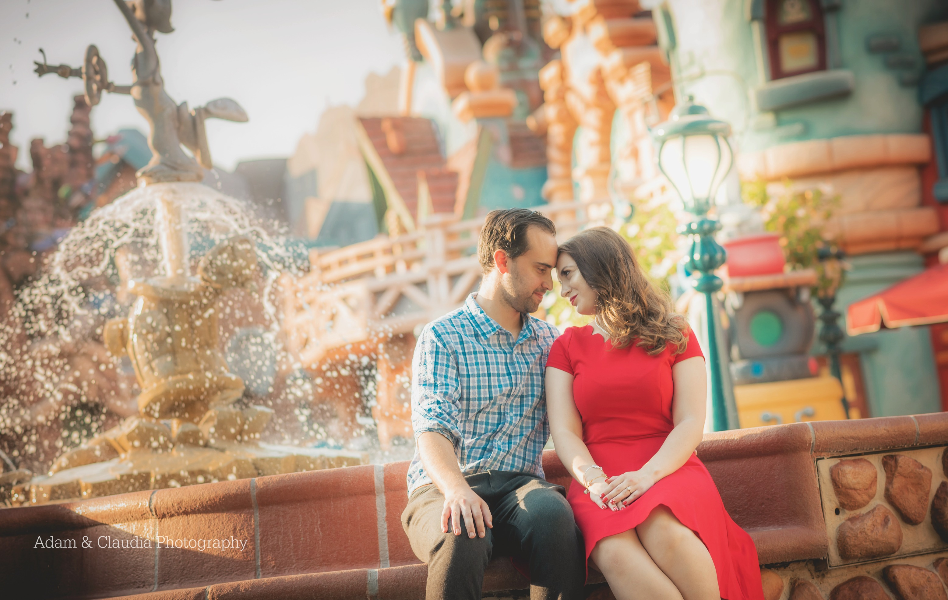 Engagement photo in Toontown