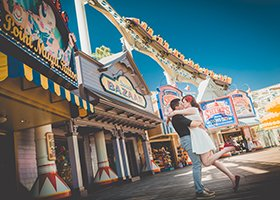 Engagement photo at California Adventure