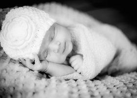 Photo of newborn laying down