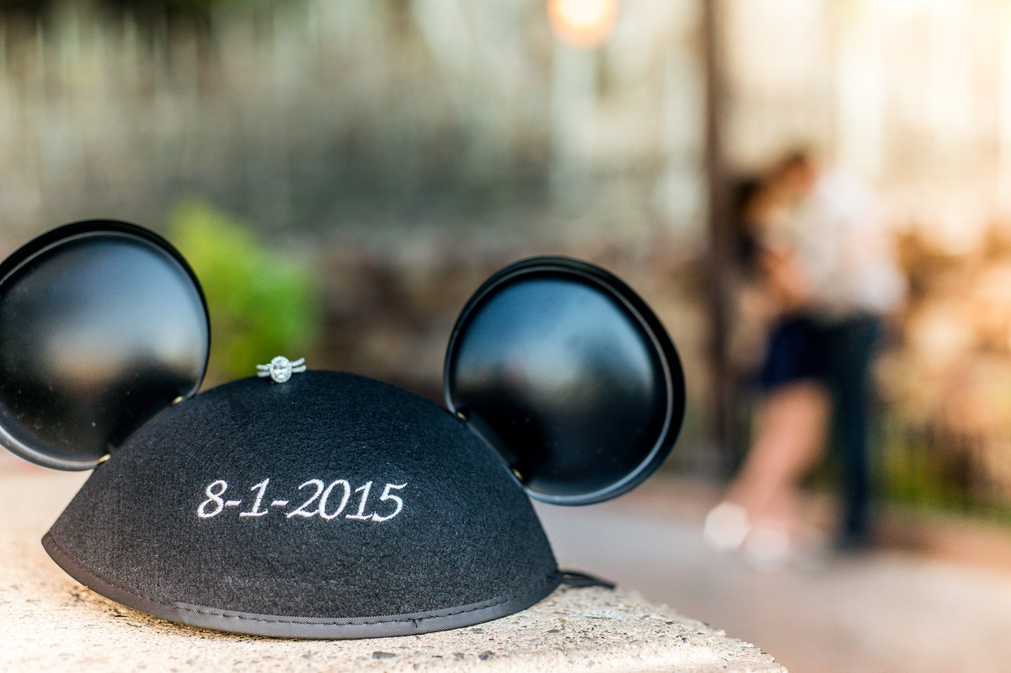 Mehlberg engagement ring with Mickey Ears