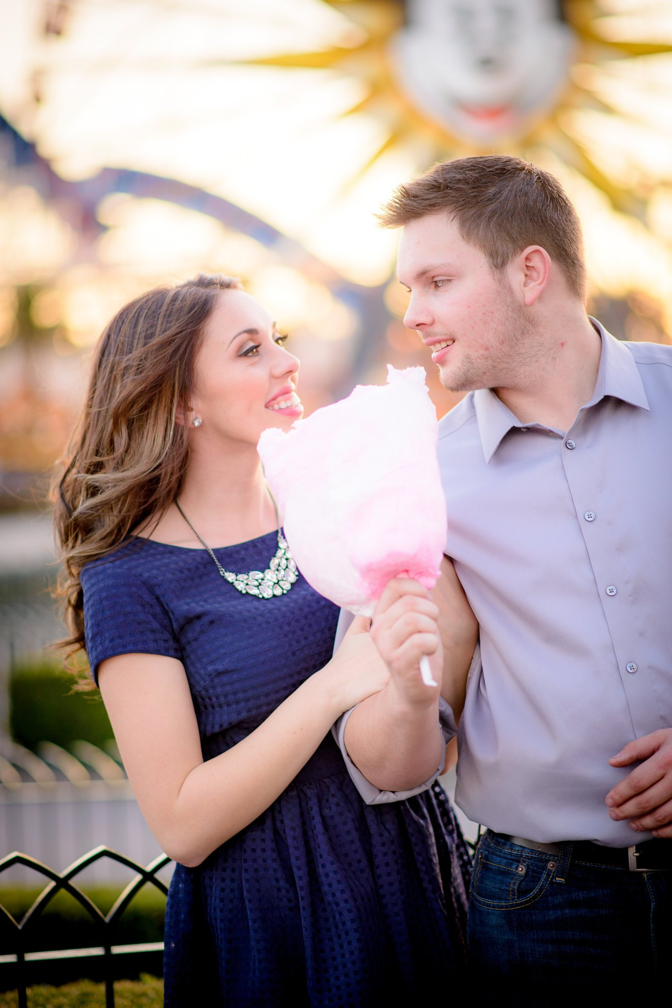 Mehlberg couple sharing cotton candy