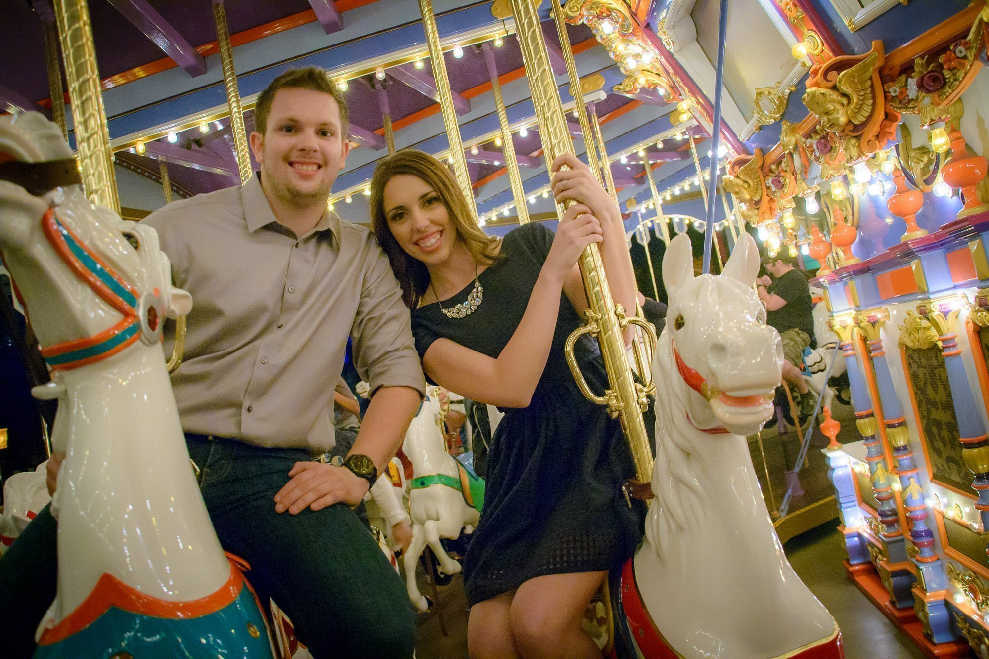 Mehlberg couple on carousel
