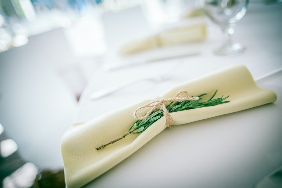 view of napkins on a table
