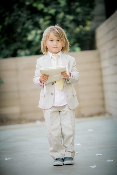 ring bearer holding a pillow