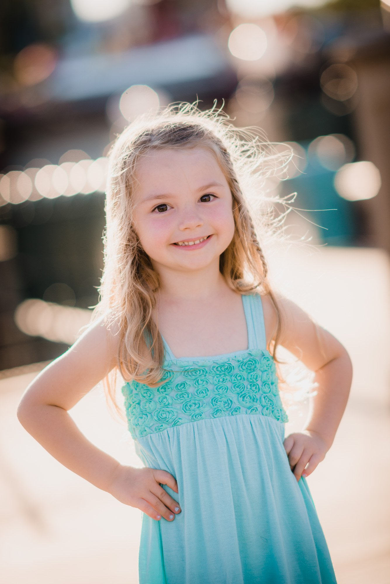 image of a little girl in blue dress