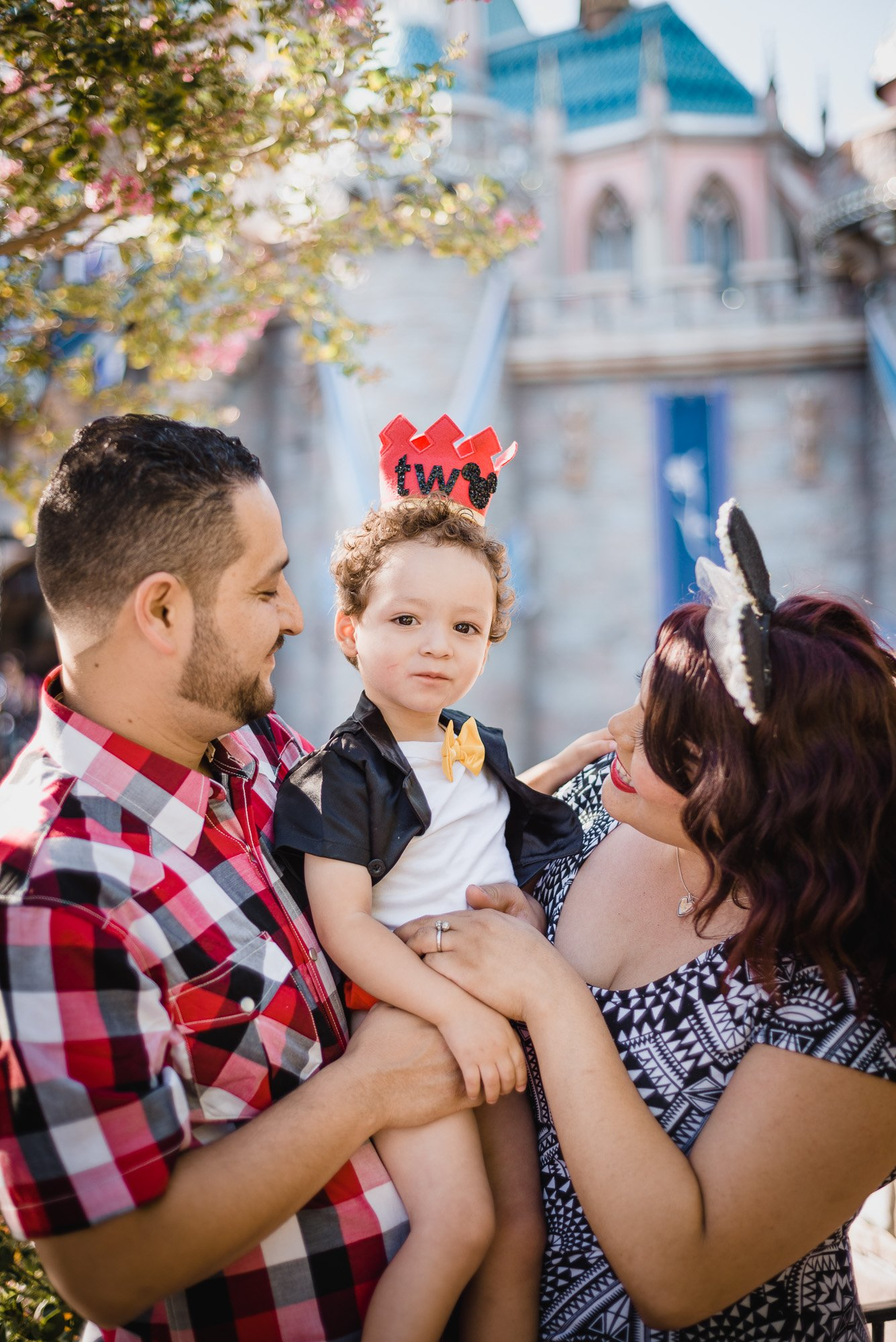 Diaz Family posing together at Disneyland