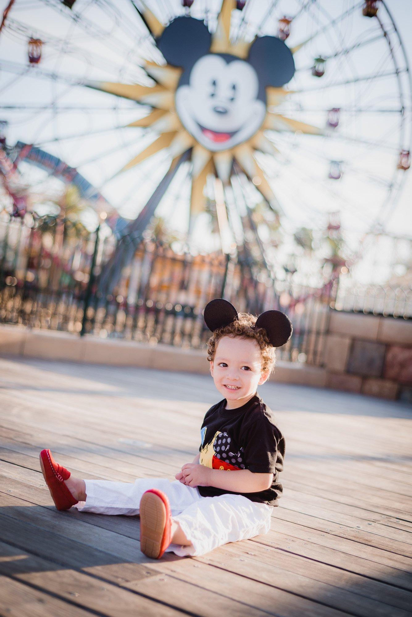 Diaz child by the ferris wheel