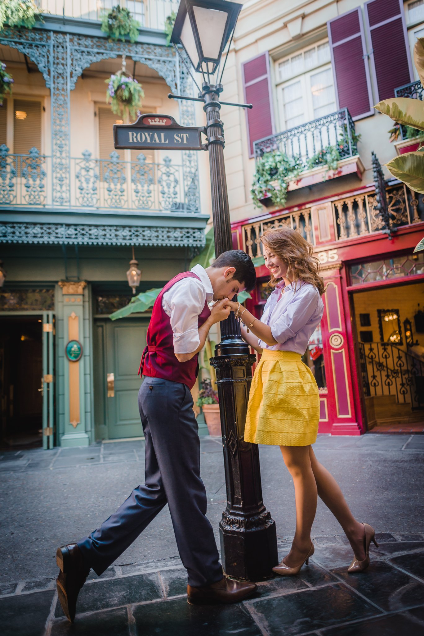 William and Marina walking through Disneyland