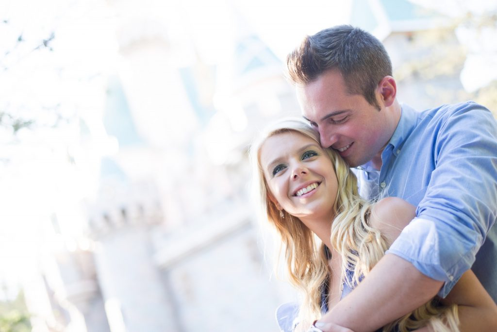 Engagement photo, example of hand correction service