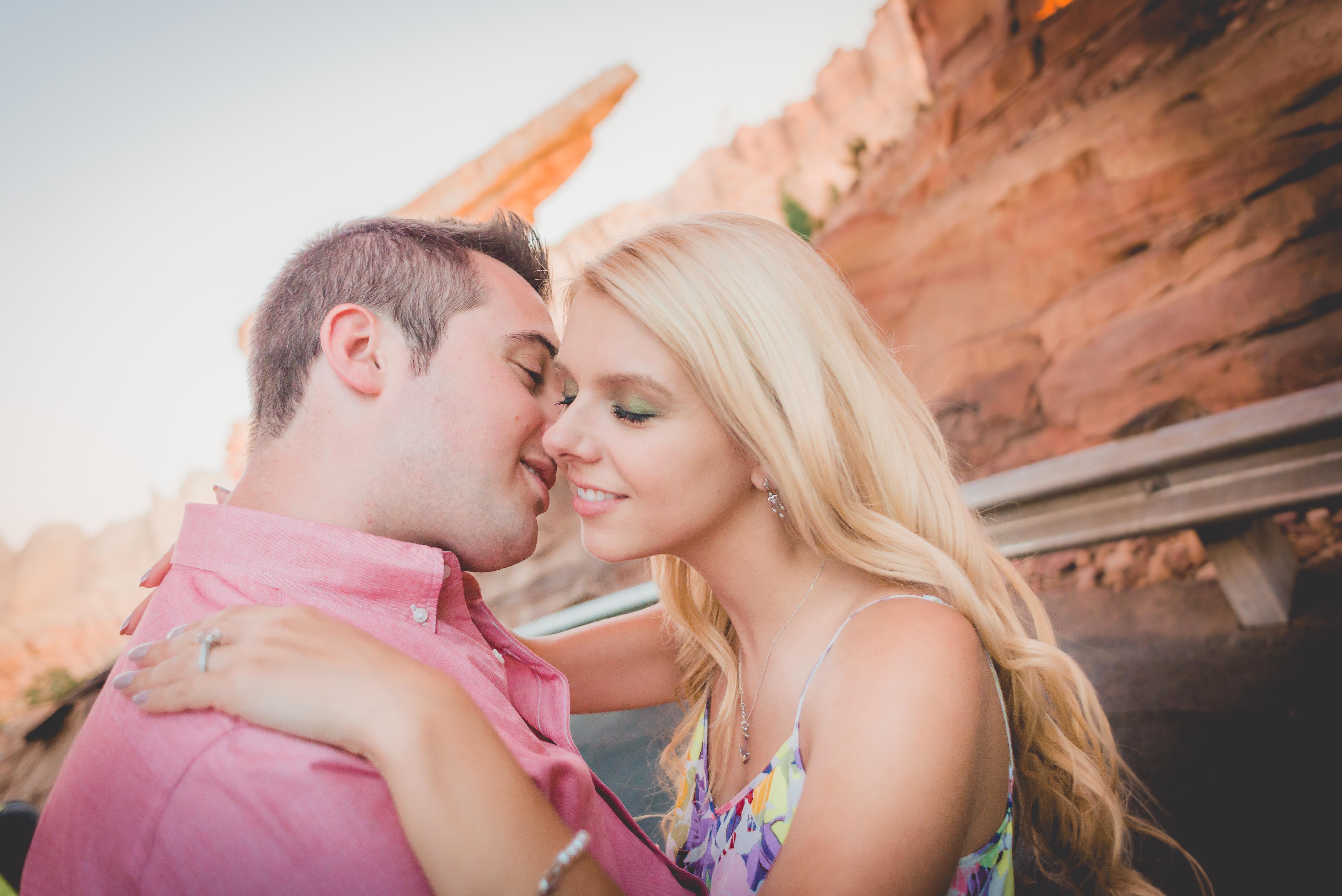 Anthony and Amanda in California Adventure Park at Disneyland