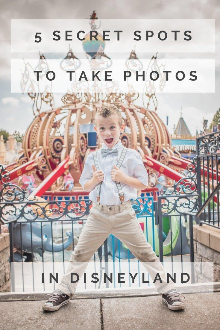 5 secret spots to take photos in Disneyland
