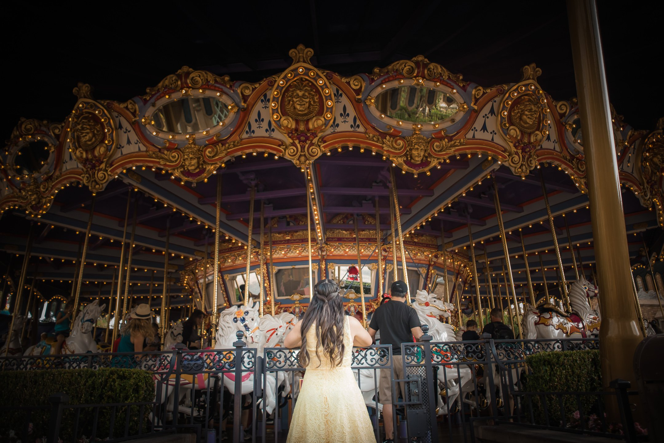 Disneyland Quinceanera photo session - In front of King Arthur's Carousel