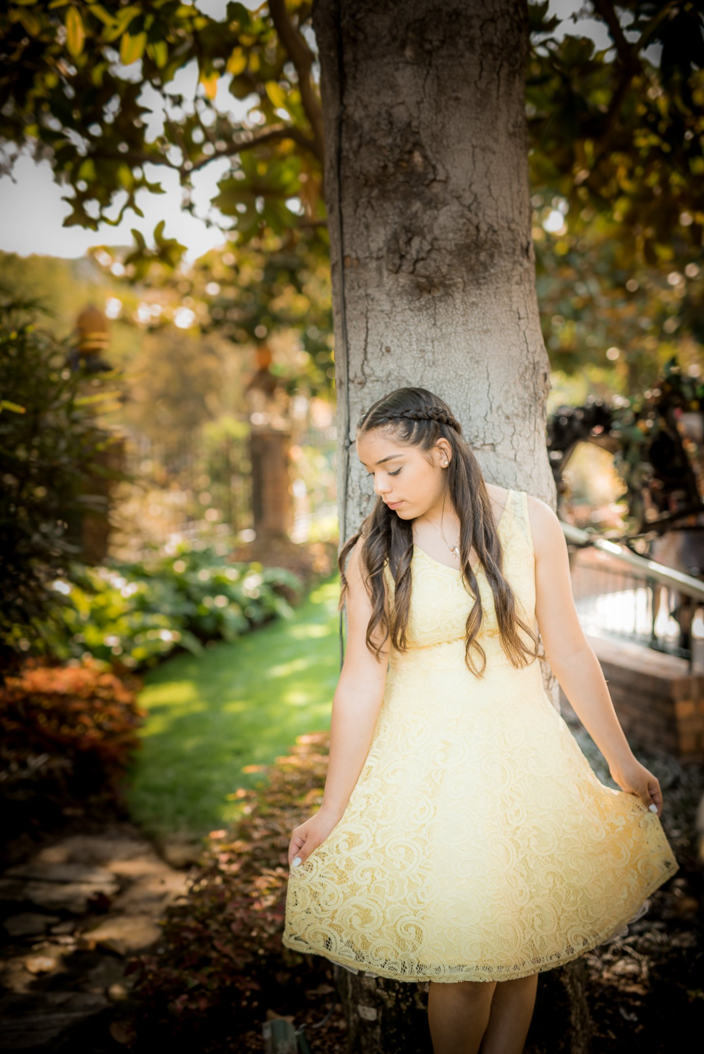 Disneyland Quinceanera photo session - By the Haunted Mansion in Disneyland, CA