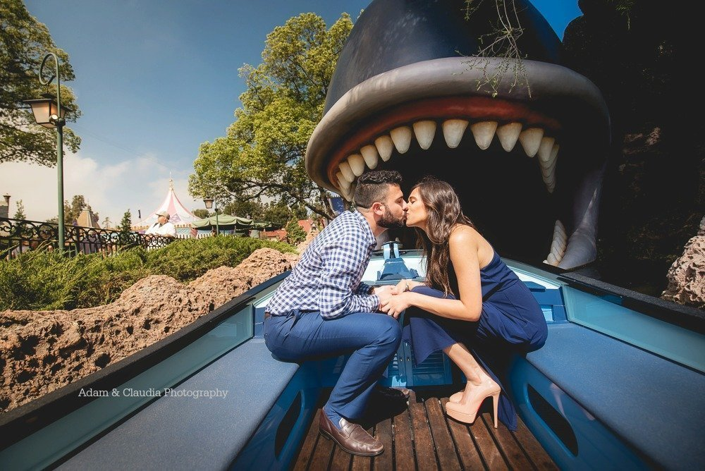 Engagement photo in Disneyland