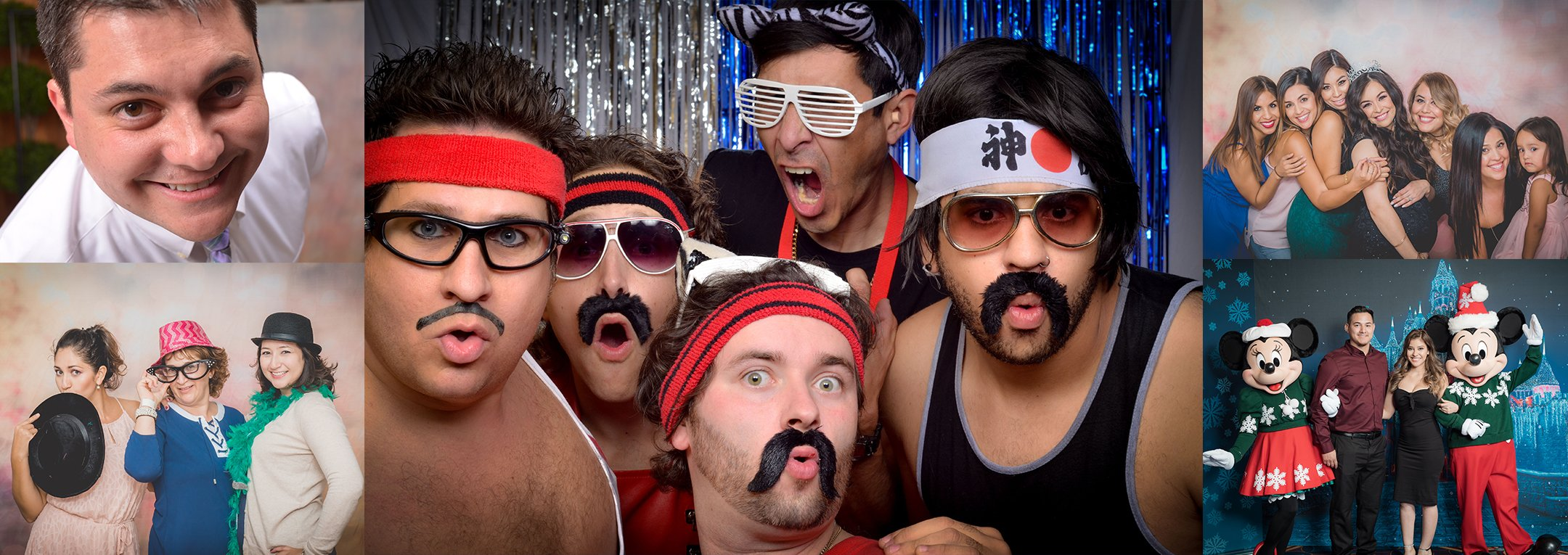 5 Example photos of the photo booth service