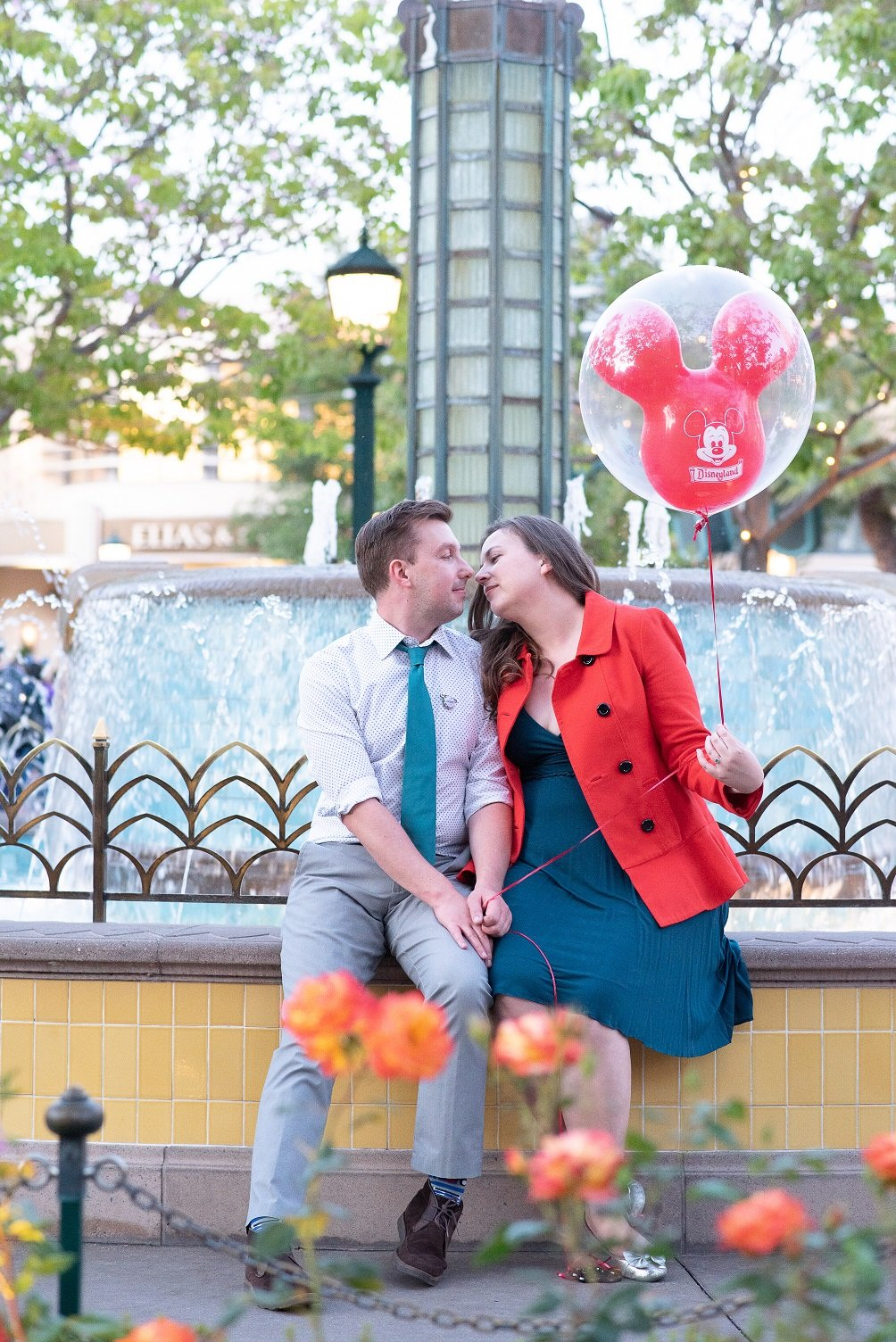 Disneyland Engagement session, example of signature correction service