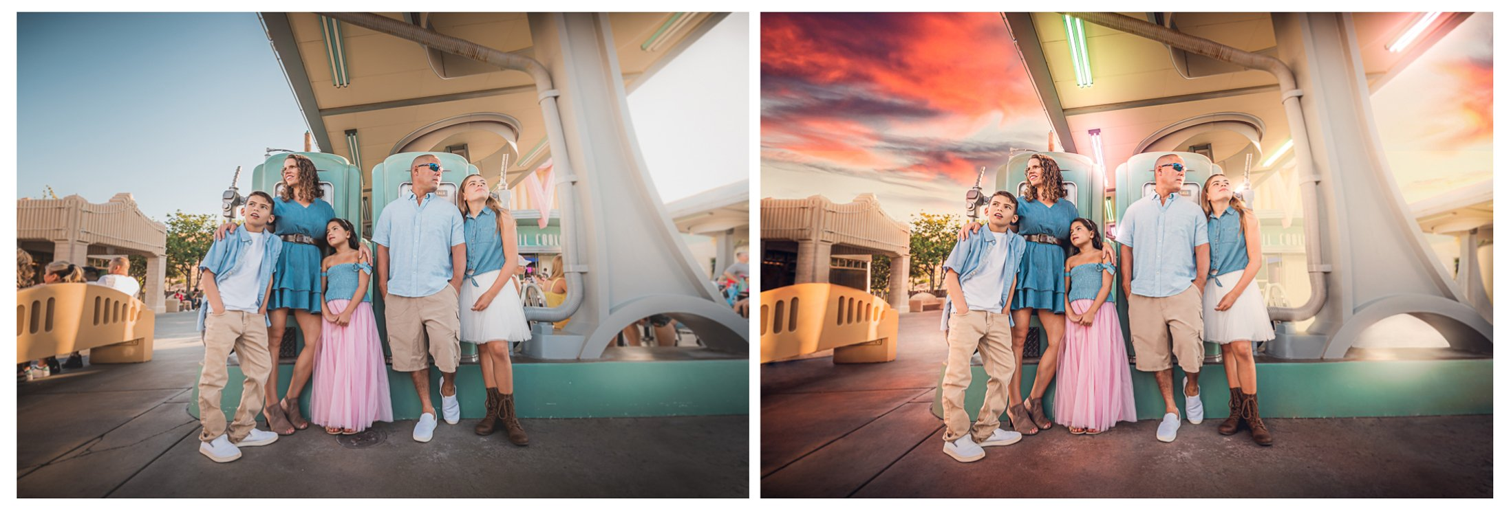 Masterpiece Finish Service - Disneyland Family Photo