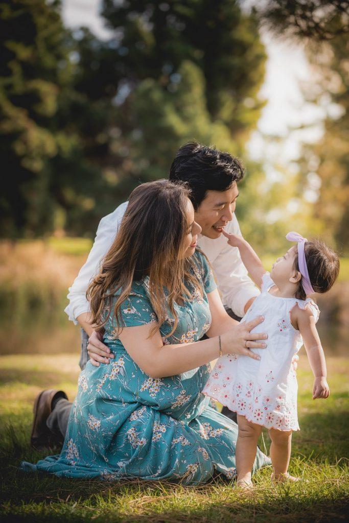 Family Portrait in El Dorado Park, Long Beach, CA