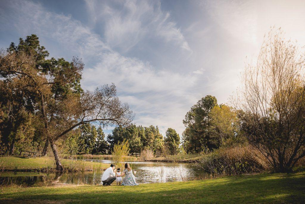 Family photos in El Dorado park, Long Beach, CA