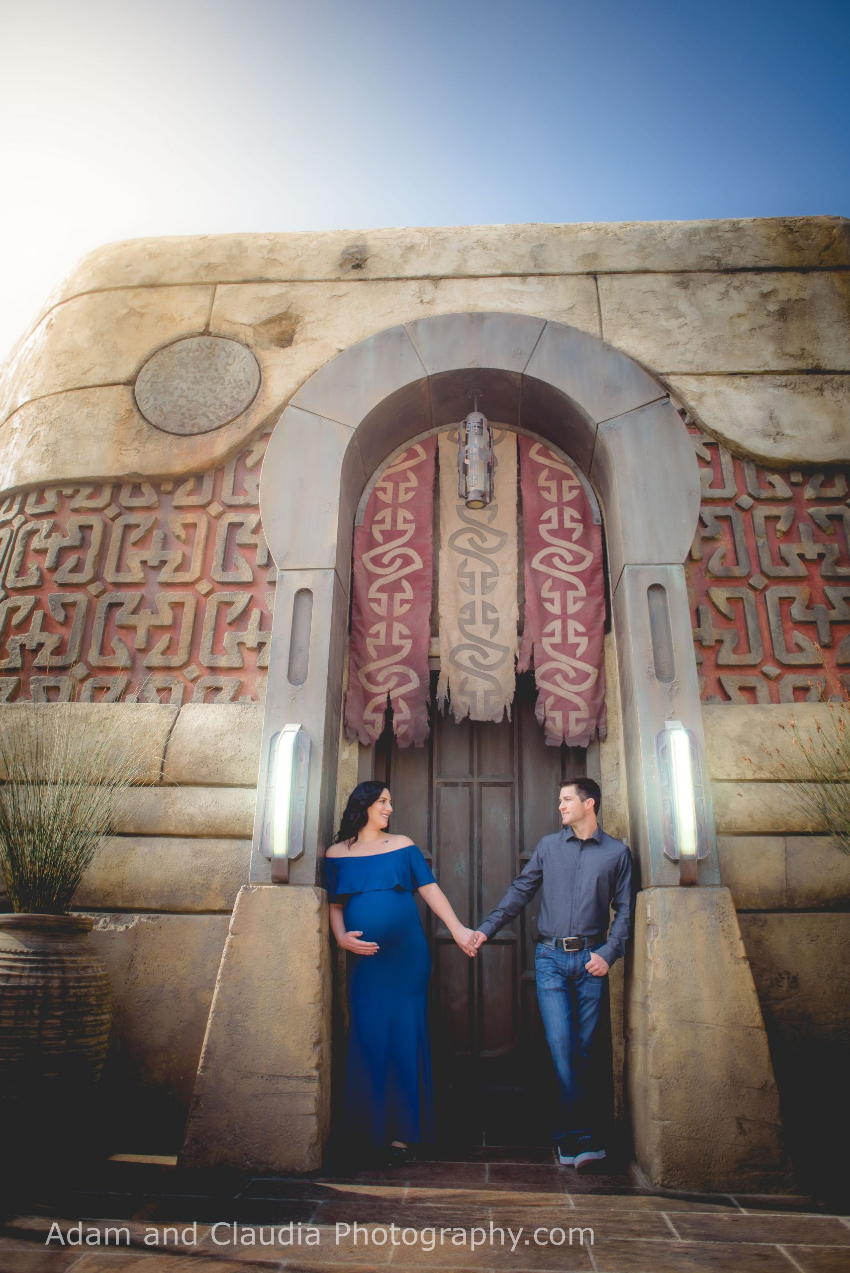 Yada - Disneyland Maternity Photos in Galaxy